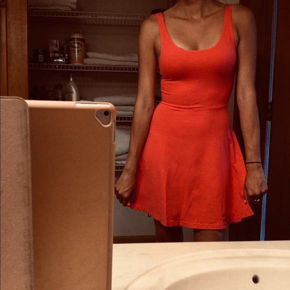 Express Dresses & Skirts - Beautiful Express coral skater dress ▶️ EUC